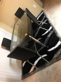 black and gray metal framed glass-top table Laurel, 20708