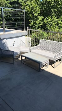 outdoor furniture set - grey with tan cushions - I have two complete sets Cincinnati, 45248