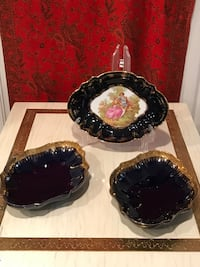 two black and one brown ceramic bowls Potomac, 20854