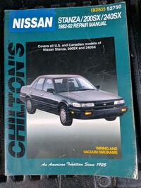 Chilton manual for Nissan Stanza 200SX 240SX Niagara Falls, L2E 3K9