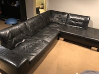 Genuine leather sectional - as is Toronto, M9B 2L5