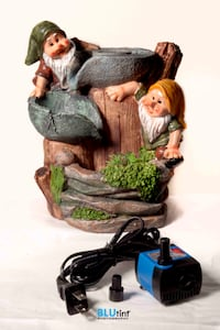 Gnome table water fountain with mill