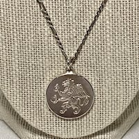 Vintage Sterling Silver Chain with 999 Fine Silver Pendant Ashburn
