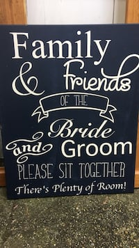 Family & Friends of the Bride and Groom text printed poster Kalamazoo charter township, 49006