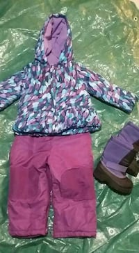 Euc 2/3 fit 2pc snow suit