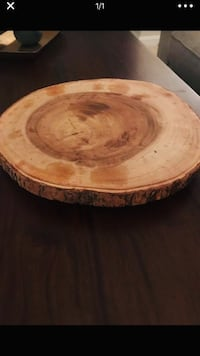 round brown wooden coffee table 25 km