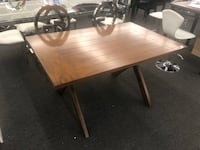Living Trestle Wood Dining Table Color Dark Pine (Scratch and Dent) Clearance Item $99 TM 1206 mi