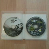 Ps3  to spill plater Granturismo og need for speed Oslo kommune, 0983