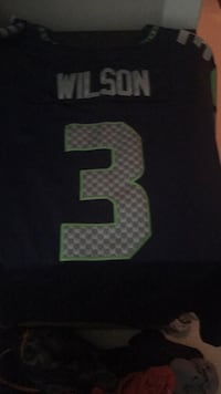 Blue and green Wilson Seahawks jersey  Surrey, V3X 1B8