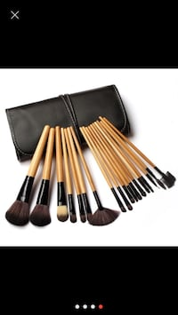 New brown makeup brush set