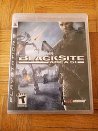 Playstation 3 game- blacksite Area 51 Toronto, M2J 1L4