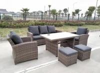 Fancy 6 pc sectional wicker patio furniture Catonsville, 21228