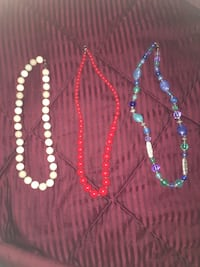 women's three beaded necklaces