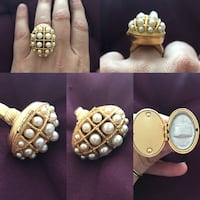 "Vintage ""Avon"" pearl locket poison ring Laval, H7W"