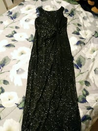 Elegant Black Floor Length Dress. Cheyenne, 82001