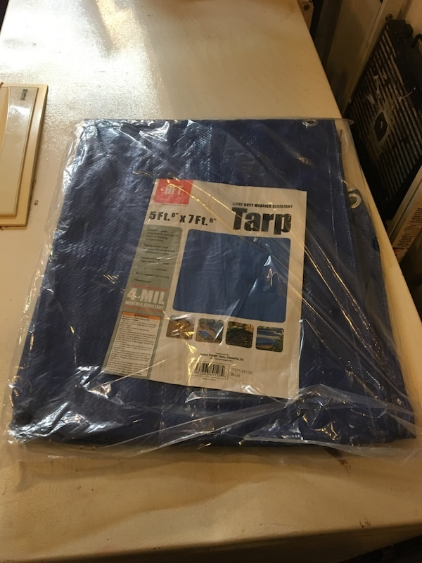 f52ce0c81c407f 5 ft 6 inches x 7 ft 6 inches blue all purpose weather resistant Tarp