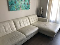 White fabric sectional sofa from Mobilia Montréal, H4G 1P7