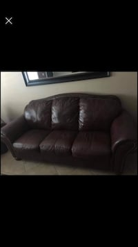 Furniture Brown Leather Couch Set Living Room Centerville, 84014