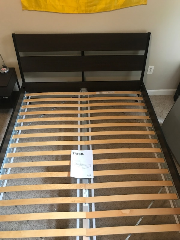 Used Ikea Trysil   Bed Frame, Queen size, with assembly manual