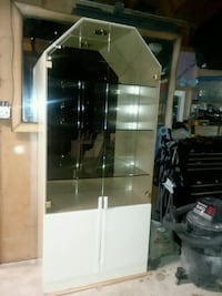white and black wooden display cabinet Berwyn, 60402