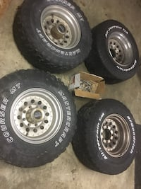 4 33x12.50r16.50LT off-road tires on American racing wheels. $250 Firm Lexington Park, 20653