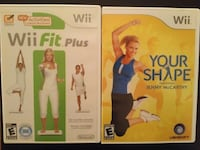 two Nintendo Fit games: Wii Fit Plus / Your Shape