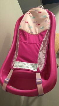 Women's pink and white tote bag