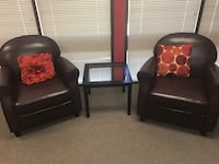 Two brown leather sofa chairs excellent condition Campbell, 95008