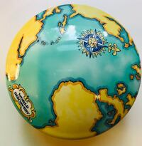 Tiffany &Co world map container