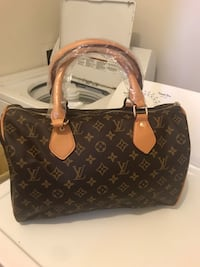 brown Louis Vuitton leather tote bag Austell, 30168