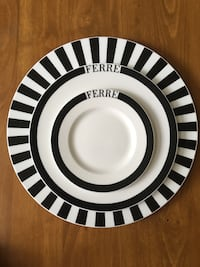 New Italian diner set plates. Best quality!Set of 14. (4 small, 4 large , 4 bowl, 2 extra large) Boyds, 20841
