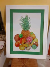 Fruit print.framed and matted