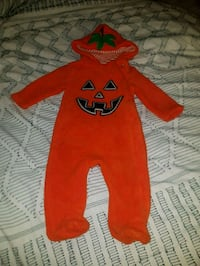 Halloween Fleece Outfit with glow in the dark pumpkin face Victoria, V9B 6T1