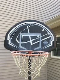 Black and white basketball hoop DeWitt, 48820