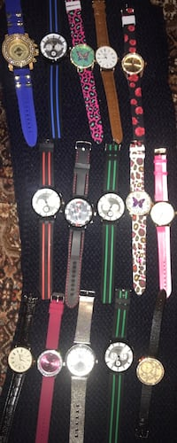 Assorted-color analog watches , $15-$20 each  North Vancouver, V7J 1R9