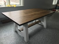 Rectangular brown and white wooden dinning room table  London, N6G 4M2