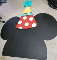 Huge Mickey Mouse face for party decor 2243 mi