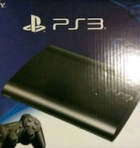 black Sony PS3 Super Slim with controller 798 mi