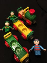 Brio train engine with 2 additional cars & 3 people Burlington township, 08016