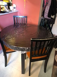 Ikea strong Round dining table with chairs