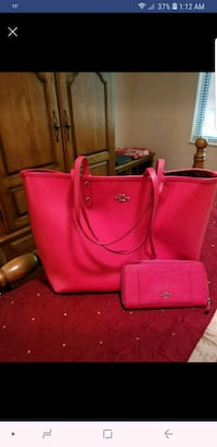 Red Coach purse and wallet Knoxville
