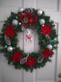 red, white, and green floral wreath Gaithersburg, 20877