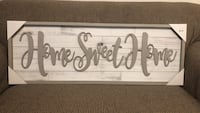 """Framed Wall Plaque """"Home Sweet Home"""" Holly Springs, 27540"""