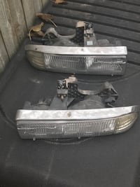 two auto headlights