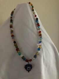 assorted color beaded necklace with pendant Camden, 27921