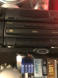 Panasonic almost new dvd and cassette player with two speakers