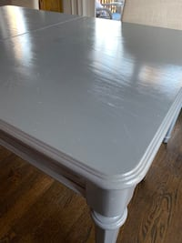 Hand painted dining room table
