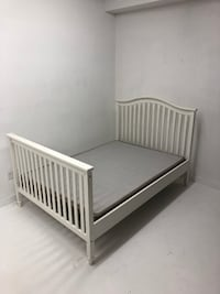 White double bed w/ box spring