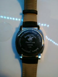 round silver-colored digital watch with black leather strap Colorado Springs, 80915
