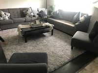 2 couches good condition will offer 2 gray accent  chairs $100 more Calgary, T3J 4R4